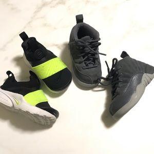 Bundle of 2 Nike Air Jordan Kids Sneakers Size 6